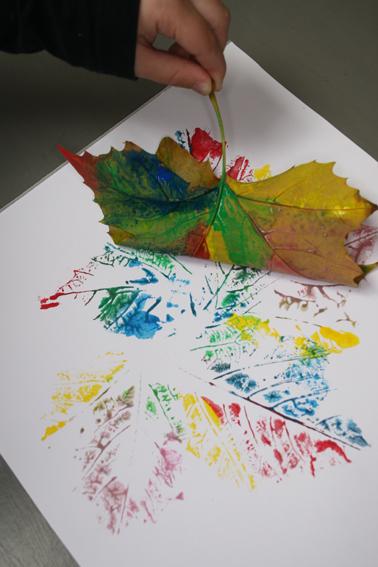 Schilderen met bladeren