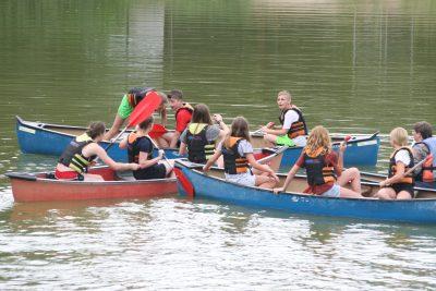 Waterspelen met de kano